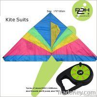 IP2H kite suits/Triangel kite+kite reel+kite line 170*100cm