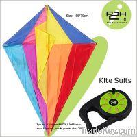 IP2H kite suits/Diamond kite+kite reel+kite line 85*70cm