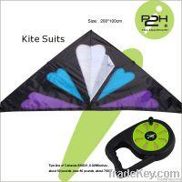 IP2H kite suits/Triangel kite+kite reel+kite line 200*110cm