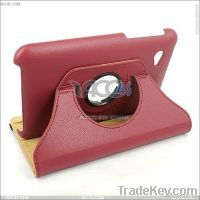 360 degree Litchi pattern Leather case for new ipad