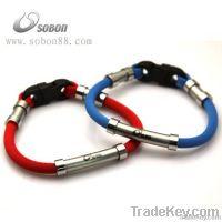 sports titanium bracelet with ion