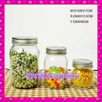 clear glass manson jars with screw tin lid