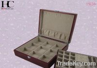 Wooden Jewelry Boxes with Double Layer&Metallic Paint Organizer