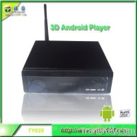 2012 new popular hd media player, 3D android tv box RTD1186