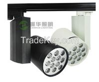 9W/12W/15W/18W led rotatable track rail light, epistar led track spotlight 220V