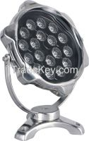 Security 12V/24V led swimming pool underwater light 12W/18W led rgb fountain underwater lamp