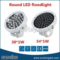 30W/54W led round floodlight, led outer wall flood light yellow/blue/green/rgb