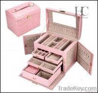 Faux Leather Jewelry Storage Box/Case