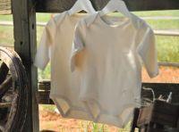 Organic baby long sleeve bodysuit