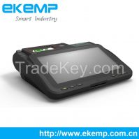 Android Barcode Scanner Fingerprint Scan Billing Machine with Magnetic