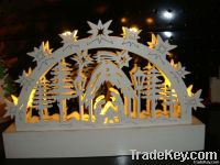 wooden candle light/decoration light