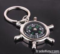 Vogue Alloy Compass Keychains