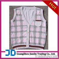 boy's knitted vest sweater with printing