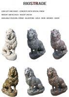 Solid Lion sculptures pair