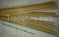 Round bamboo flowers stand, bamboo flowers support sticks, bamboo flowers plant sticks diam 3-6mm