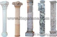 Stone Carved Decoration Roman Column