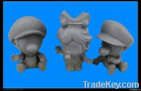 Clay cartoon figurine for kids