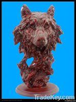 polyresin antique imitation animal head figurine