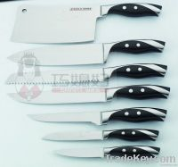 Durable stainless steel kitchen knife block set