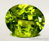 A Grade quality 9x7mm oval Nice Cutting Gemstones Peridot Wholesaler