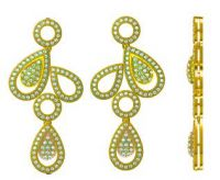 High Quality Micro Pave Setting Jewelry Silver Earrings