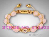 Shamballa Bracelet Women's Fashion Stle Jewelry Pink Shiny Crystal AFX