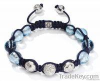 Shamballa Bracelet , delicate carft , trendy design, purple crystal
