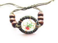 3cm DIA Indian Dream Catcher Bracelet Adjustable Rope Hand Made Dream Catcher Bracelets 4 Colors Free Shipping 2014 New Arrival
