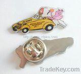 China factory cheap high quality cmyk printing lapel pin badge