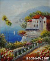 Mediterranean Seascape Oil painting