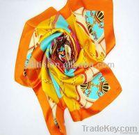 Fashion ladies  printed silk scarf