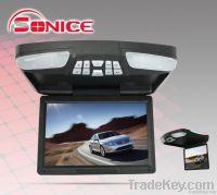 12.1'' slim car flip down multi-media Hitachi lens dvd displayer