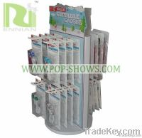 supermarket shelves paper spinner stand with hooks