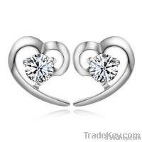 wholesale silver charm earrings
