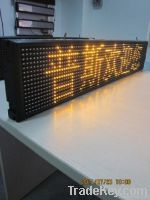 Poos P10 single yellow led sign SD-P10-1-Y