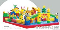 Amusement park children inflatable castle