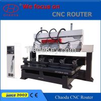 4 axis multi head cnc routers for woodworking
