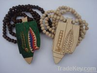 wood pandent, hip hop necklace with pendant