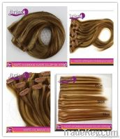 wholesale real human hair clip in hair extension real factory price