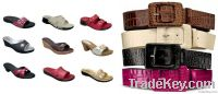 Artificial Slippers & Belts Leather