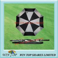 """60"""" black and white nylon golf umbrella"""