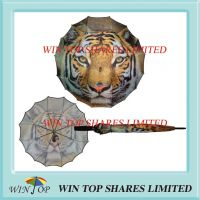 All over one piece canopy tiger umbrella