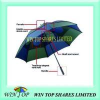 30 inch Blue and Green Hurricane Umbrella