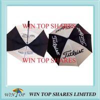 Black and White Fiberglass Golf Umbrella for Titleist