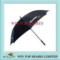Nice Day Black Strong Fiberglass Golf Umbrella