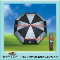 Arc 68 inch, Radius 34 inch Black Widow Auto Golf Umbrella