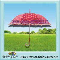 Hot Sale Auto Straight Printing Umbrella with Ruffle