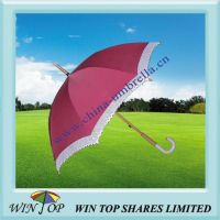 """21"""" Fashionable Umbrella with Lace and Jade Handle"""