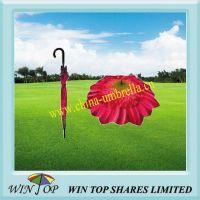"""23"""" Auto Stick red rose flower Umbrella"""