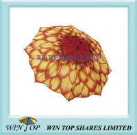 "23"" Auto Stick red Sunflower Umbrella"